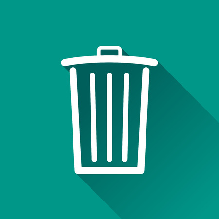 application recycle: Illustration of delete design icon with shadow