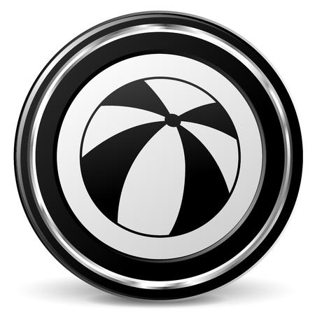 Illustration of balloon sign on metal icon