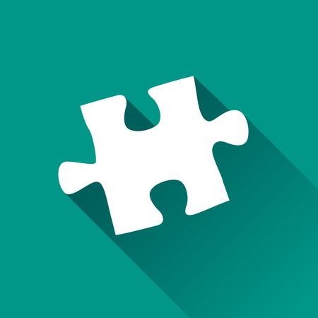 Illustrazione dell'icona di progettazione di puzzle con ombra Vettoriali