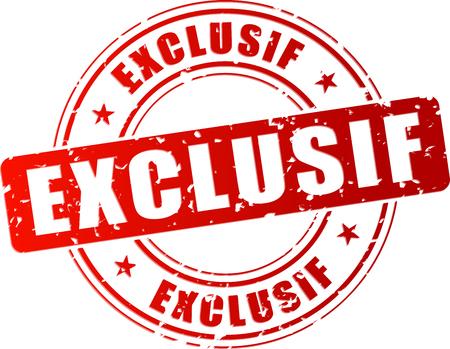 Illustration de tampon exclusif sur fond blanc
