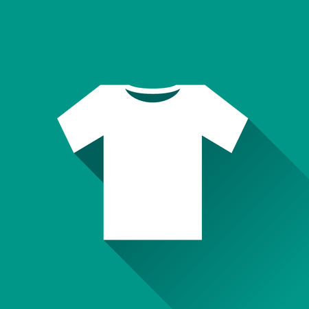 tee shirt: Illustration of tee shirt icon design with shadow