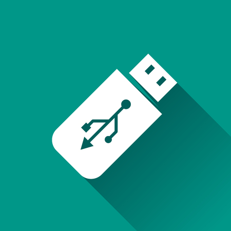 flash drive: Illustration of flash drive icon design with shadow