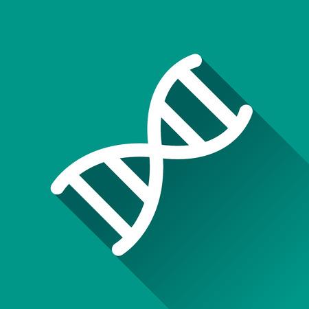 cromosoma: Ilustración de diseño de iconos cromosoma con la sombra