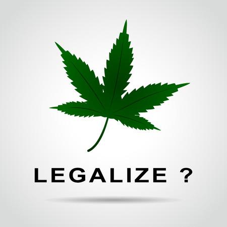 Illustration of cannabis leaf for legalization concept