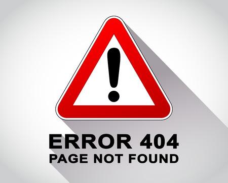 error message: Illustration of warning sign for error message