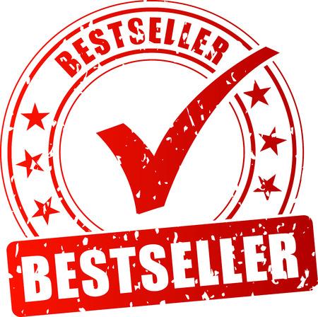 Illustration of bestseller red stamp on white background Illustration