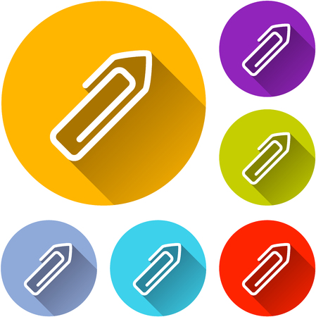 Illustration of paper clip icons with shadow Illustration