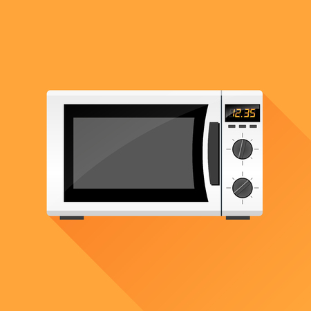 microwave oven: Illustration of microwave oven icon design concept