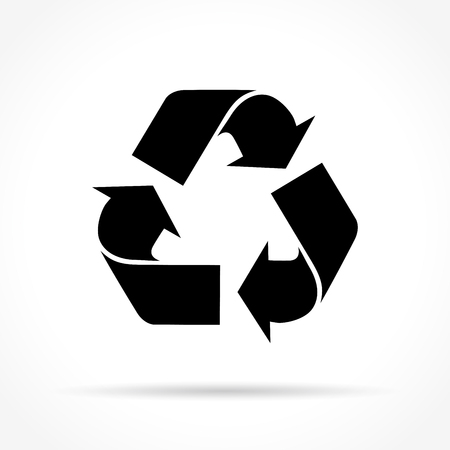 Illustration of recycle icon on white background