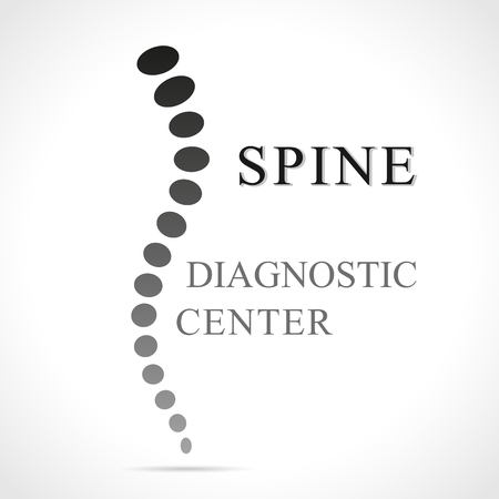 Illustration of spine abstract shape for diagnostic center