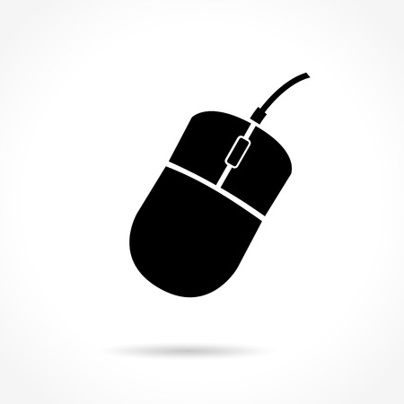 computer mouse: Illustration of computer mouse icon on white background