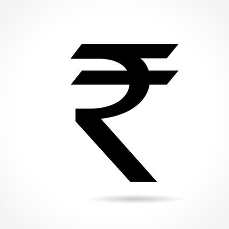 rupee: Illustration of rupee icon on white background