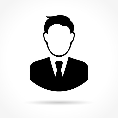 Illustration of business man icon on white background