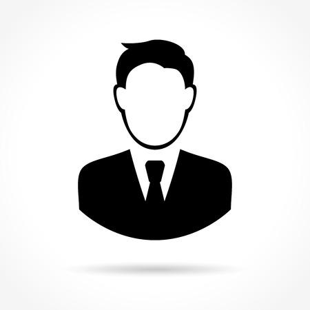 Illustration of business man icon on white background