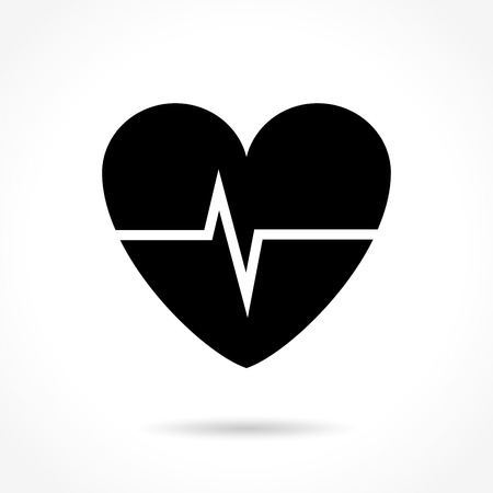 frequency: Illustration of cardiac frequency icon on white background Illustration