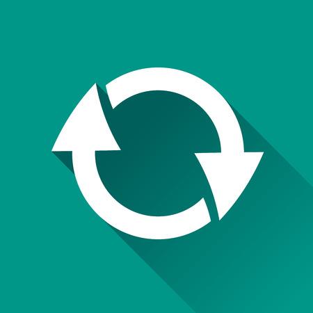 Ilustración de refrescar diseño de icono de diseño plano
