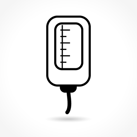 chemotherapy: Illustration of catheter icon on white background