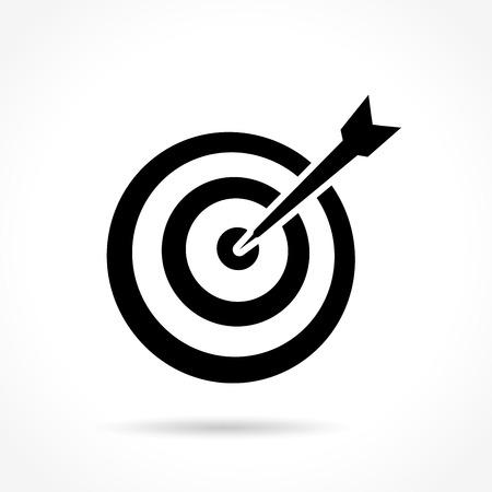 Illustration of target icon on white background