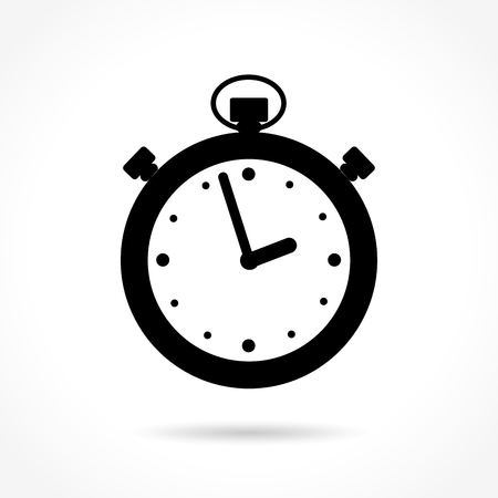 Illustration of stopwatch icon on white background Illustration