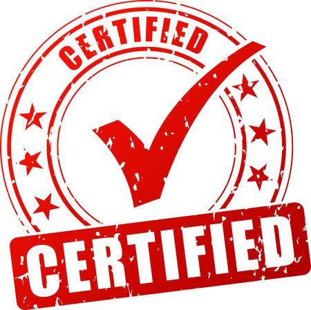 certified stamp: Illustration of certified stamp on white background Illustration