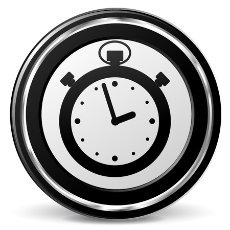 alu: Illustration of stopwatch black and gray icon
