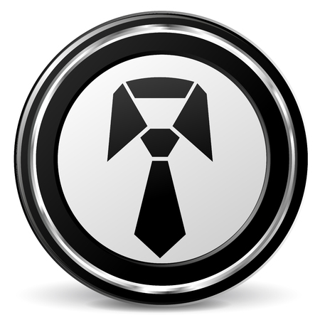Illustration of tie black and gray icon