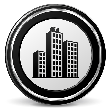 alu: Illustration of buildings black and gray icon