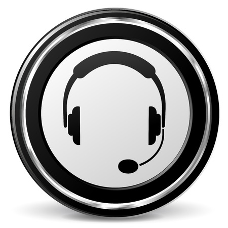 alu: Illustration of headset black and gray icon