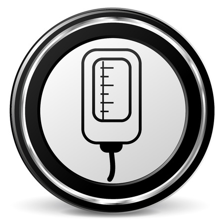 alu: Illustration of catheter black and gray icon
