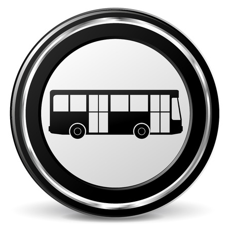 alu: Illustration of bus black and gray icon Illustration
