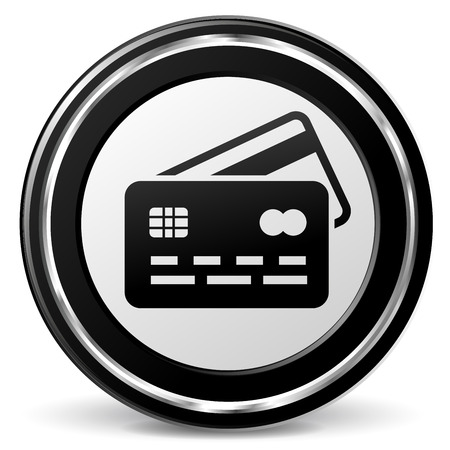 alu: Illustration of credit card black and gray icon