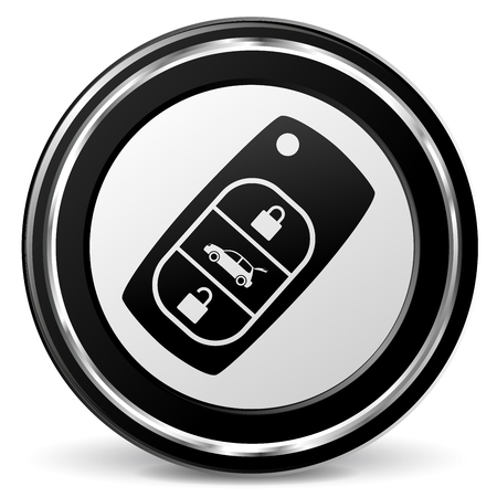 alu: Illustration of car key black and gray icon