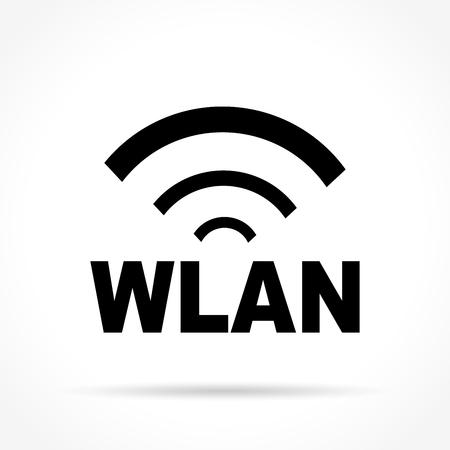 Illustration of wlan icon on white background Illustration