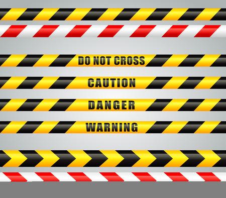 restricted area: Illustration of stripes tape for restricted area Illustration