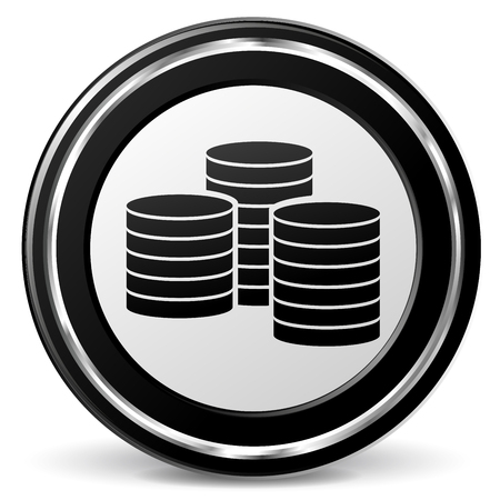 alu: Illustration of coins black and gray icon Illustration