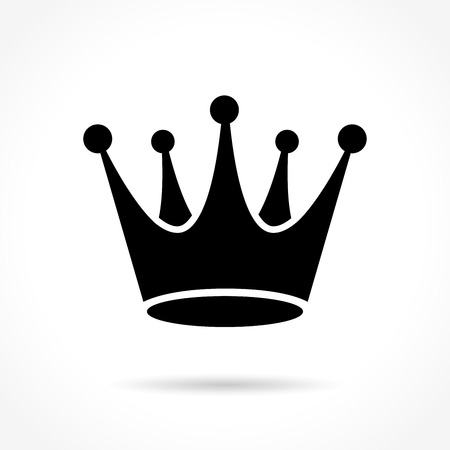 royal person: Illustration of crown icon on white background Illustration