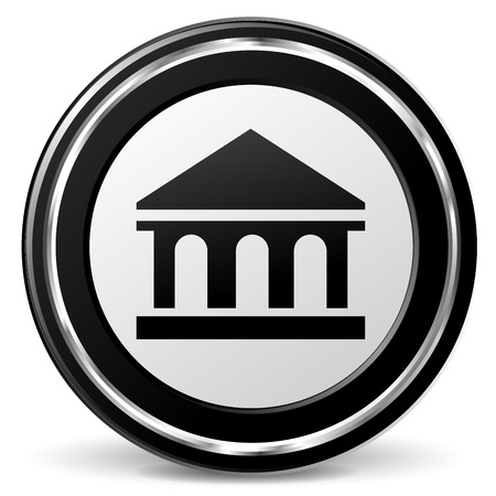 alu: Illustration of bank black and gray icon Illustration