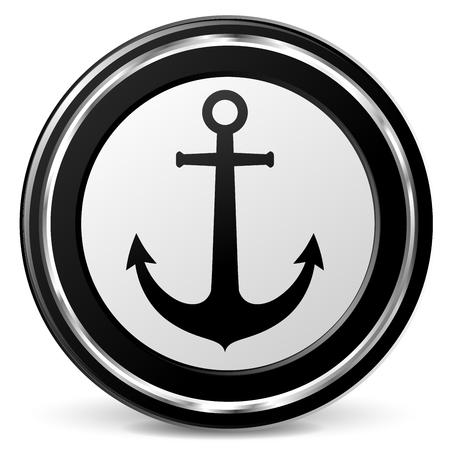Illustration of anchor icon on white background