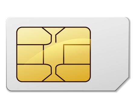 Illustration of sim card on white background Illustration