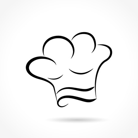 Illustration of chef hat on white background