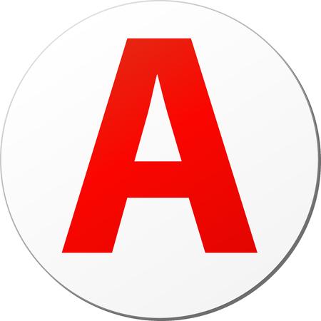 Illustration von Lernenden französisch Fahrer-Aufkleber-Symbol