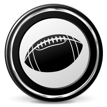 Illustration of american football icon on white background Illustration