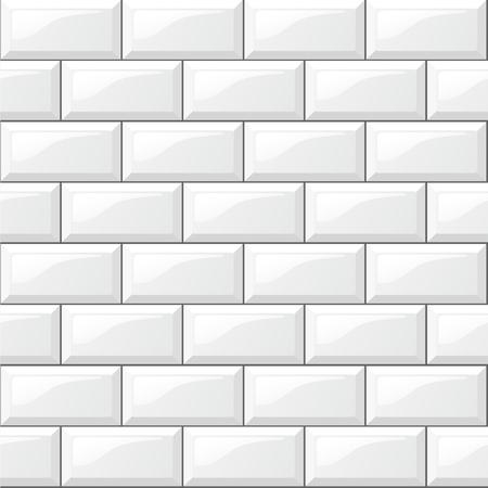 Illustration of rectangular horizontal white tiles background