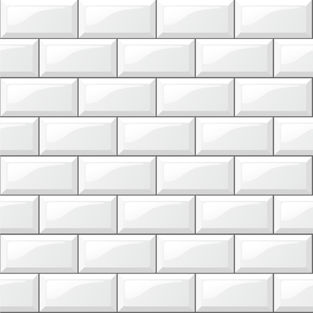 Illustration of rectangular horizontal white tiles background