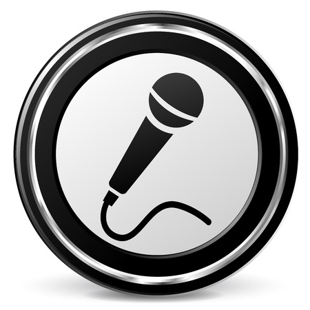 Illustration of microphone icon on white background