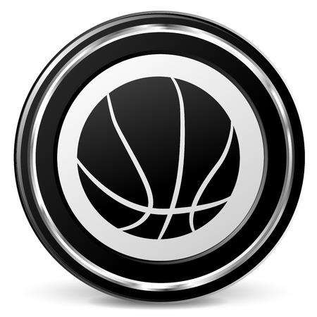 Illustration of basketball icon on white background