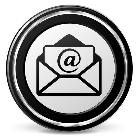 Illustration of mail icon on white background