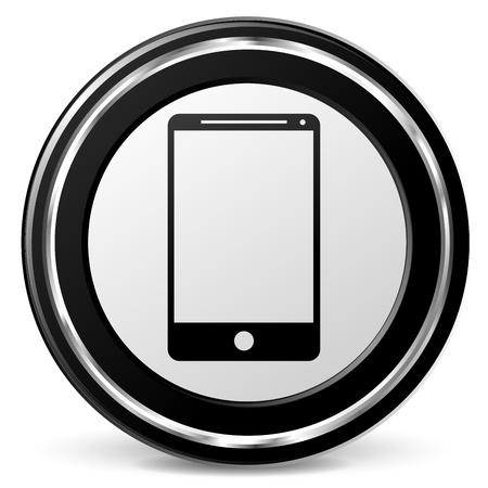 Illustration of mobile phone icon on white background Illustration