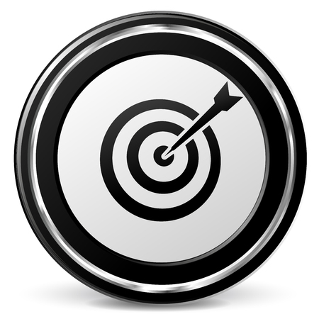 excellence: Illustration of target icon on white background