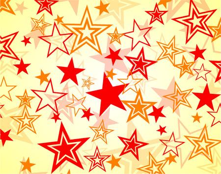 cheerfulness: Illustration of red and orange stars background